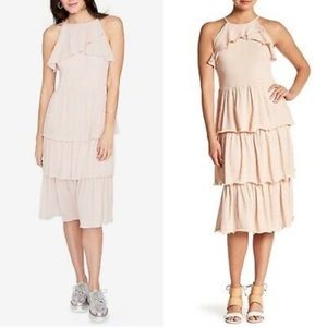 Rachel Rachel Roy Pink Tiered Ruffle Dress